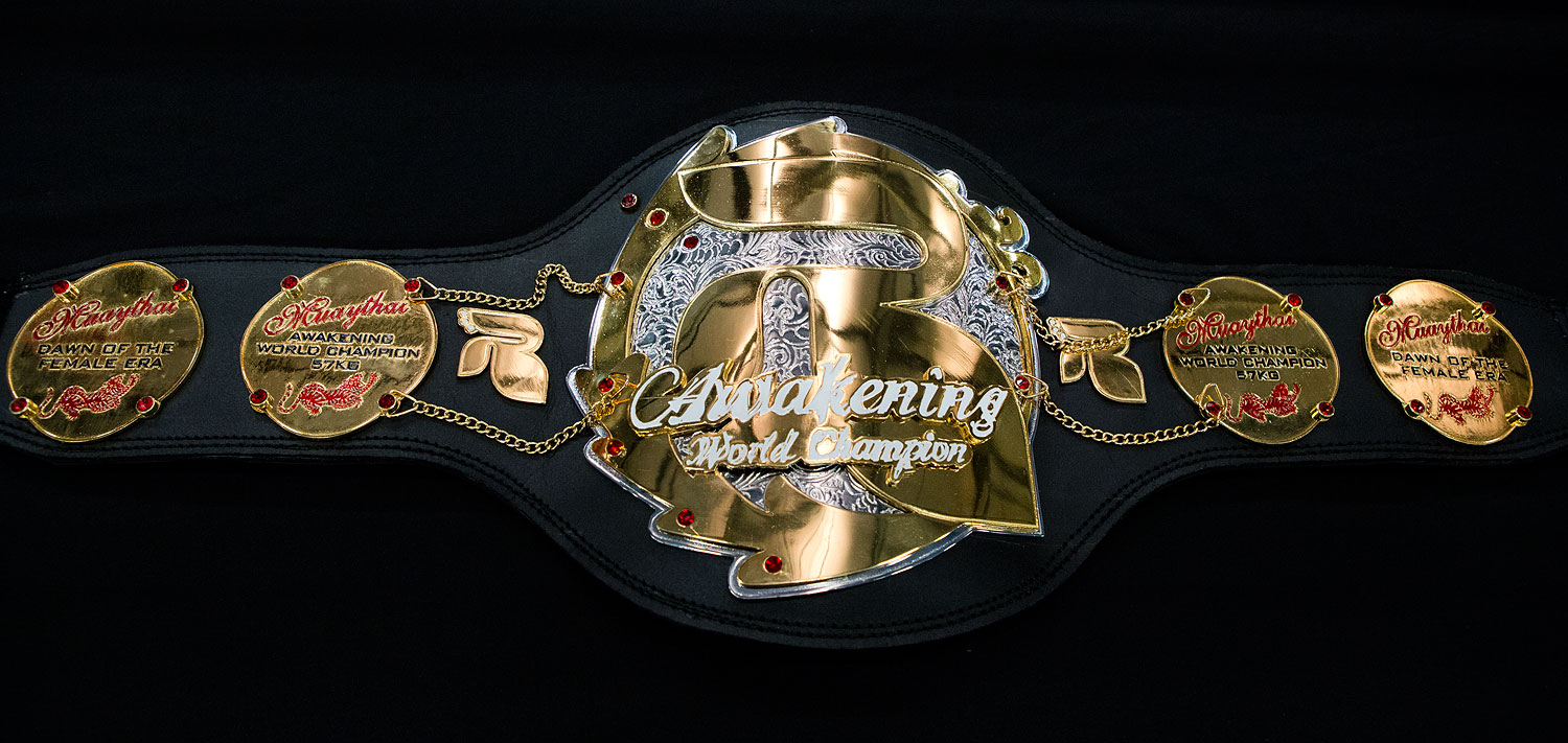 Awakening World Title Muay Thai Championship Belt