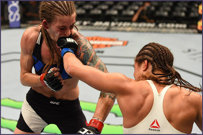 Elizabeth Phillips punches Jessamyn Duke