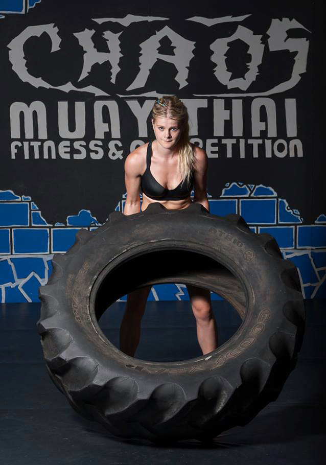 Christi Brereton at Chaos Muay Thai Fitness and Competition Centre