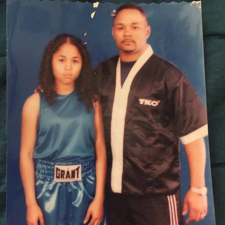 Young Kaliesha West and Father