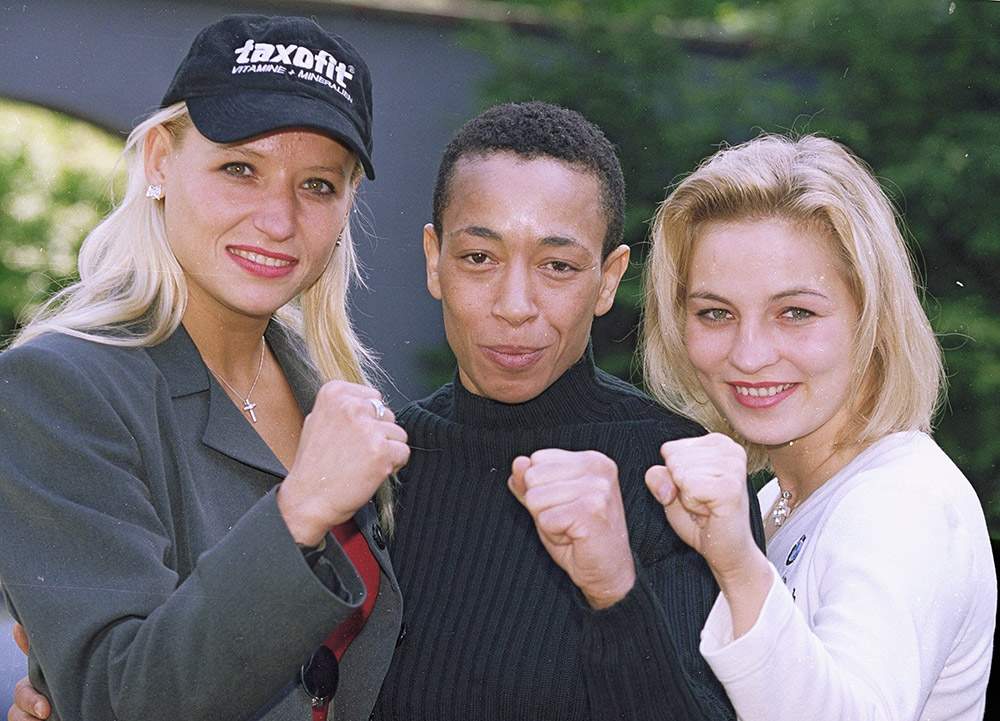 Daisy Lang, Michele Aboro and Regina Helmic in 2000