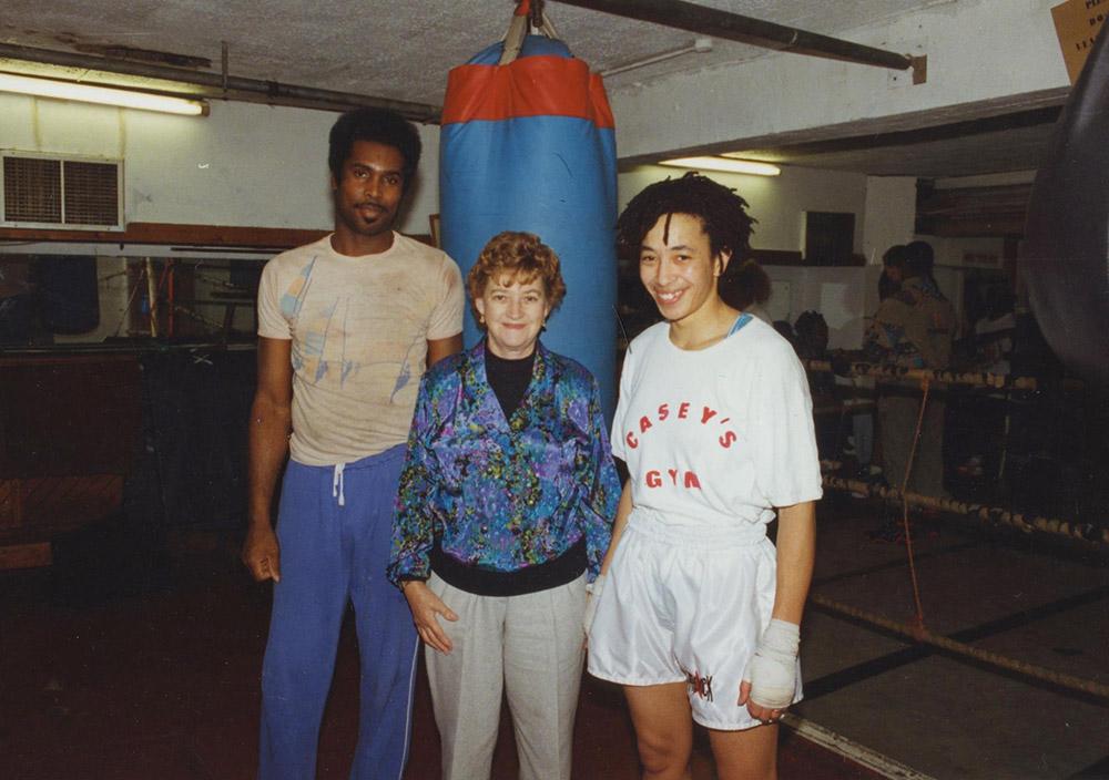 1990. Cassia, Barbara Buttrick and Michele Aboro