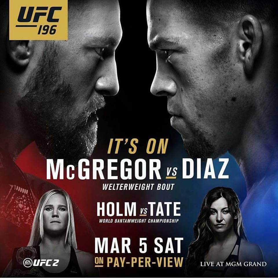 UFC 196 Holm vs Tate