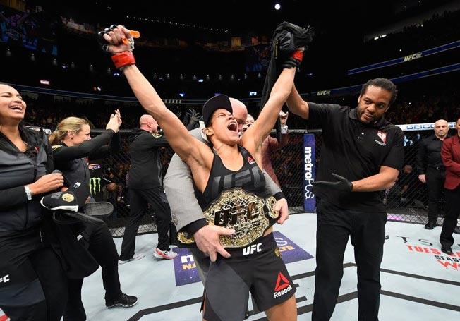 Amanda Nunes victorious at UFC 207 from UFC Facebook