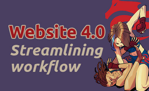 Website 4.0, streamlining workflow