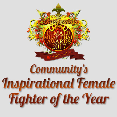Community's Inspirational Female Fighter of the Year 2017