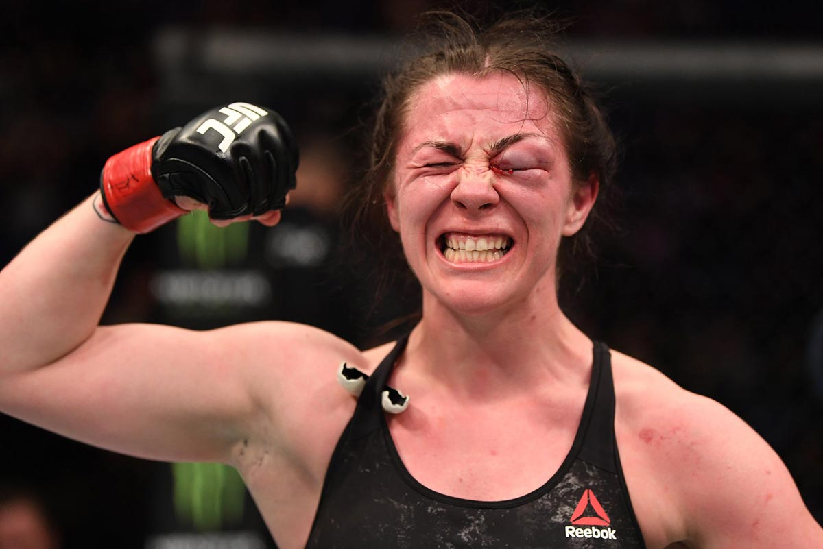 Molly McCann victorious at UFC on ESPN+ 5 from UFC Facebook