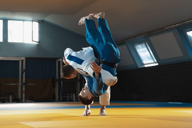 Judo throw. Photo Credit: Unknown