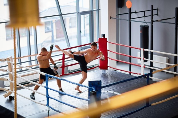 Sparring. Photo Credit: Unknown