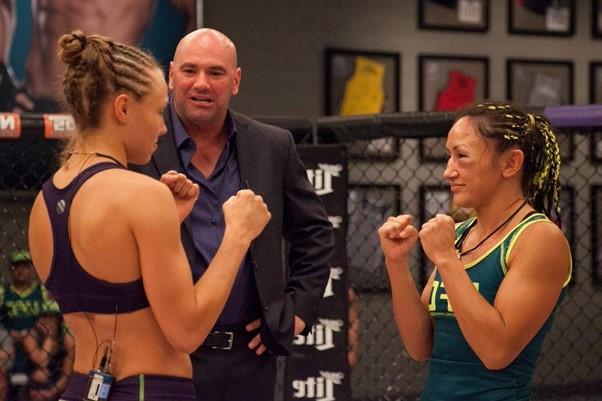 Rose Namajunas vs. Carla Esparza at The Ultimate Fighter (TUF) 20 photo credit MMAmania.com